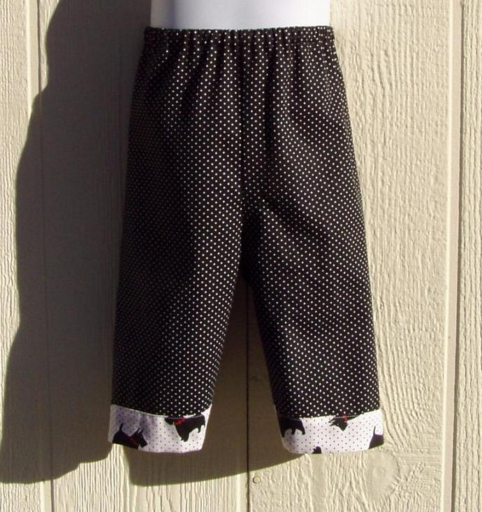Scotties on Dots, 2 Piece Set, Size 1 Toddler