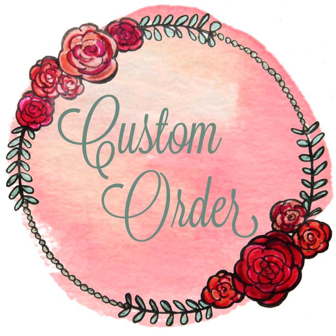 Custom Order for Emily - 3 Custom Original Floral Watercolor Paintings