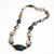Necklace of Crazy Lace Agate Rectangle shapes accentuated by Agate Discs, Bali