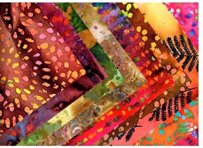 Batik Quilt Fabric Autumn Sunset Batik Medley 2 Yards 1/4 Yard Cuts