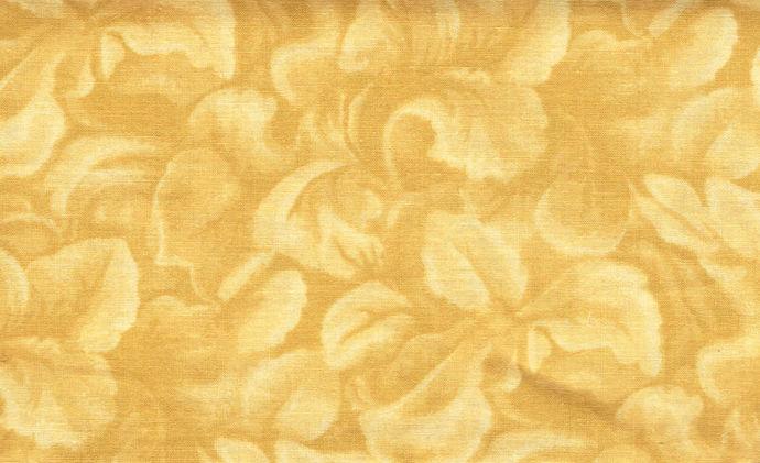 Yardage Cotton Quilt Fabric Floral Tan Cream Tone On Tone