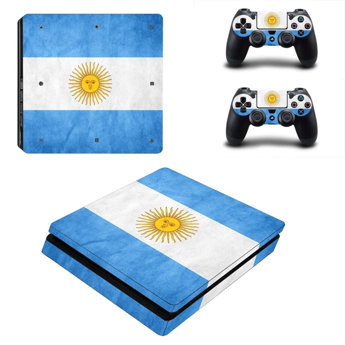 Flag of Argentina ps4 slim skin decal for console and controllers