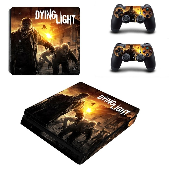 Dying Light ps4 slim skin decal for console and controllers