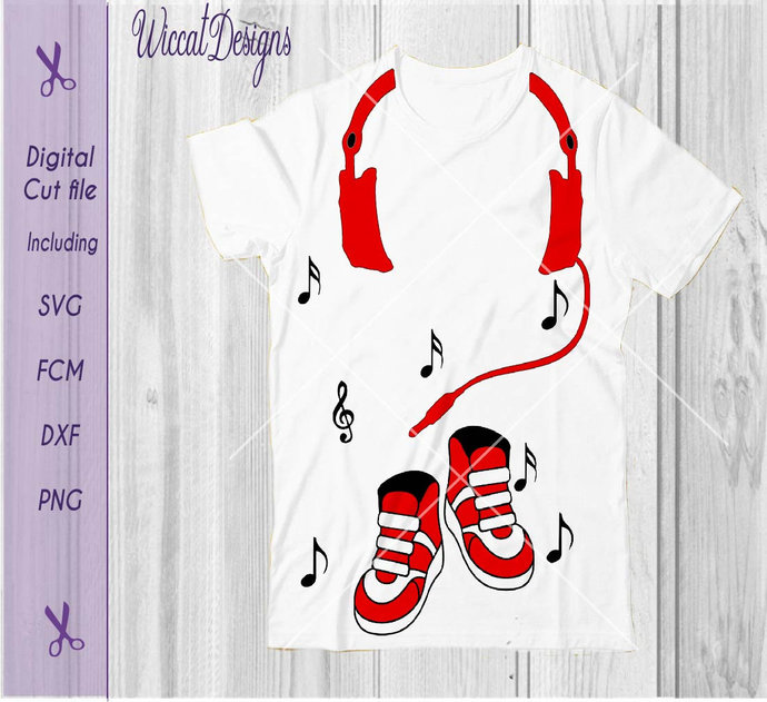 Dj svg, Shoes svg, boys shirt svg, Headphone svg, Music svg,  svg Cricut,