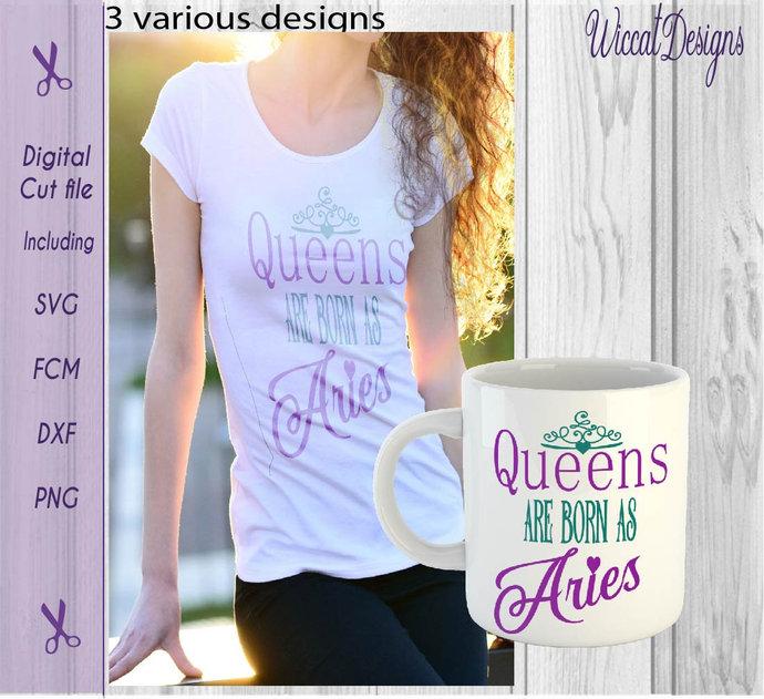 Queens svg, born in april svg, Zodiac svg, Aries svg, woman svg, April svg,