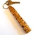 Name Keychain in Bocote Wood, Custom Carved to Order