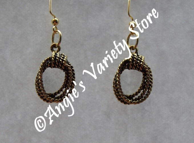 Gold Rope Earrings