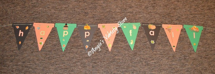 Happy Fall Wood Hanging Banner
