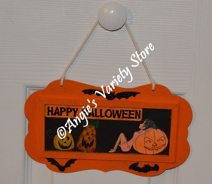 Happy Halloween Wood Door/Wall Sign