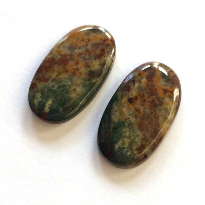 Bloodstone Gemstone Cabochon Oval 26x14mm FOR TWO