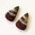 Bloodstone Gemstone Cabochon Pear 27x16mm FOR TWO