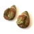 Unakite Gemstone Cabochon Pear 24x17mm FOR TWO