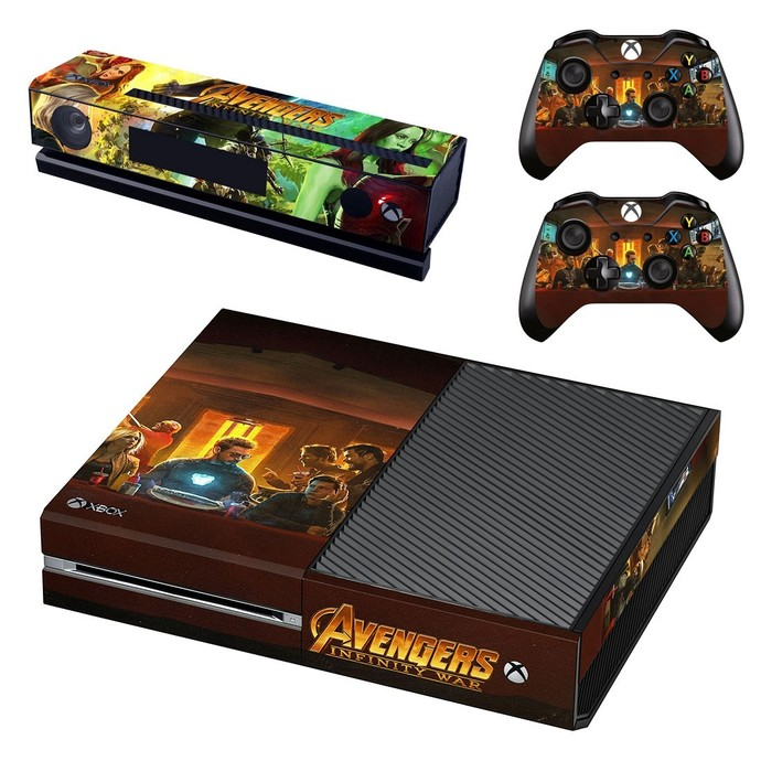 Avengers infinity war decal skin for xbox one console and 2 controllers