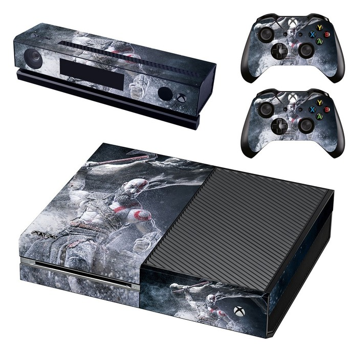Black Panther decal skin for xbox one console and 2 controllers