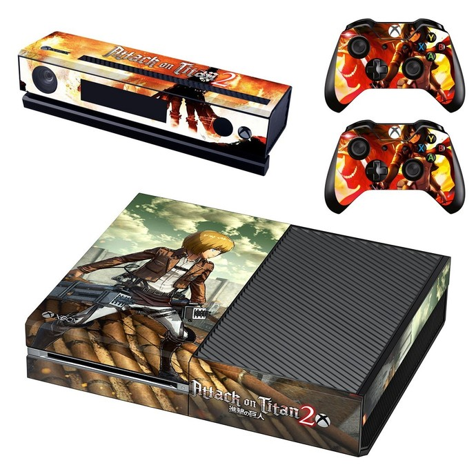 Attack on Titan 2 decal skin for xbox one console and 2 controllers