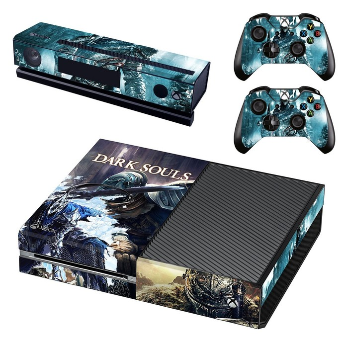 Dark Souls decal skin for xbox one console and 2 controllers
