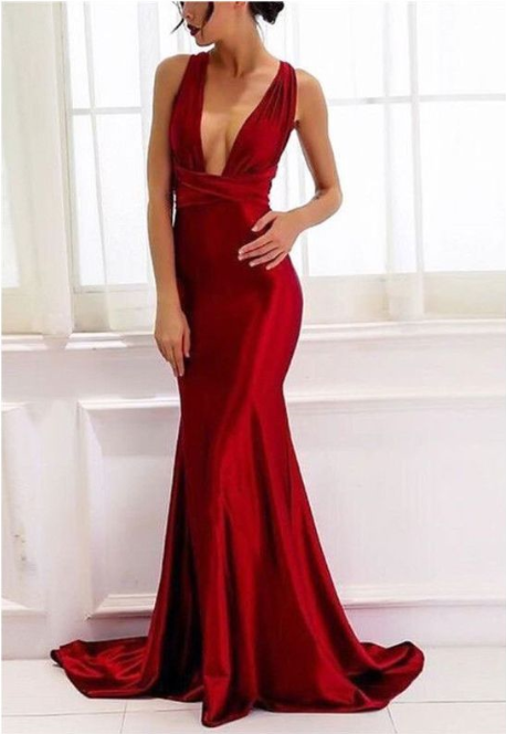 Red Long Prom Dresses, Red Evening Dresses, Prom Dresses,Evening Dresses