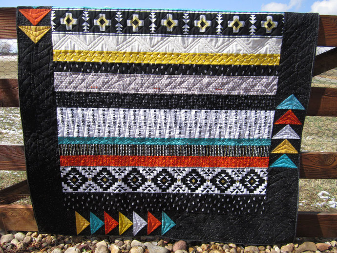 Homemade Quilts For Sale >> Homemade Quilt Southwest Patchwork By Patchworkmountain On Zibbet