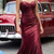Charming Burgundy Sequin Sparkly Prom Dresses,Long Straps Party Dresses