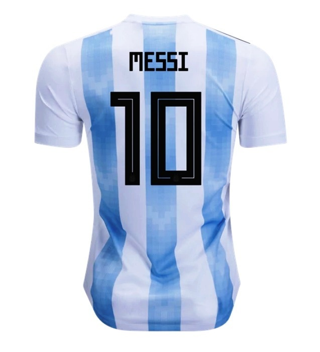 Messi #10 Argentina National Team 2018-2019 Home Blank Jersey - White