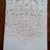 Elegant white vintage Lace pocket Invitation card with Diamonté drop