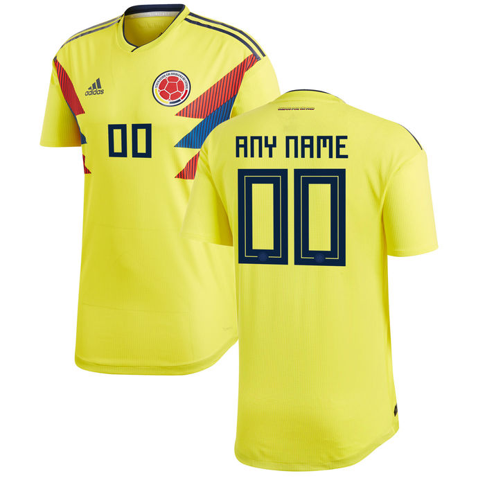 Colombia National Team 2018-2019 World Cup Home Custom Jersey – Yellow