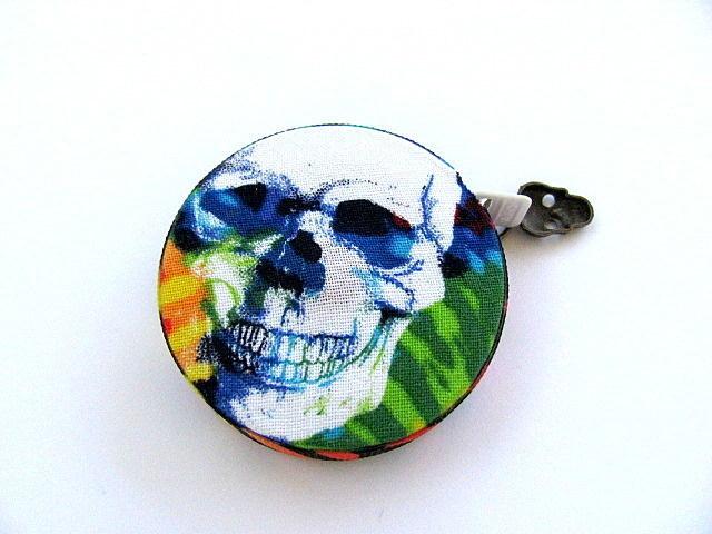 Tape Measure Tie Dye Skulls Pocket  Retractable Measuring Tape