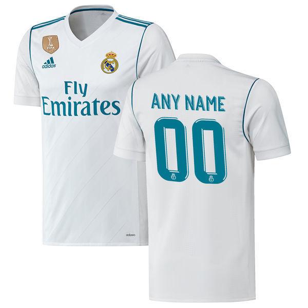 Men's Real Madrid 2018 HOME Custom Jersey