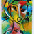 Original ACEO Miniature Abstract Acrylic PAINTING, Mujer Woman painting, ATC
