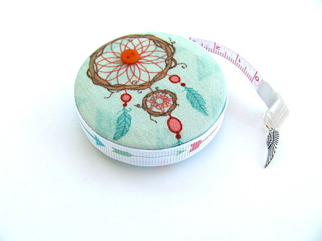 Measuring Tape Blue Dream Catchers Retractable Tape Measure