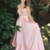 Pink Prom Dress,Satin Prom Gown,A-Line Prom Dress,Appliques Prom Gown 855