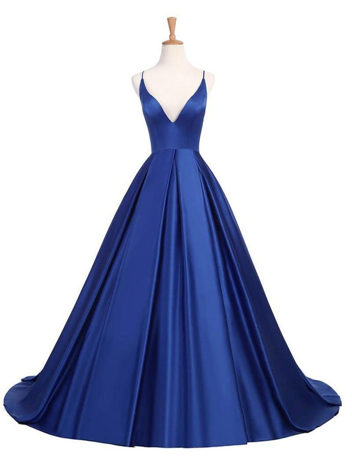7ac2ccb5cf45f Sexy Princess Halter Simple Royal Blue Prom Dresses Party Dress, A--line  Prom