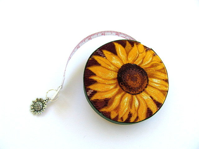 Retractable Tape Measure  Sun Flowers Pocket Measuring Tape