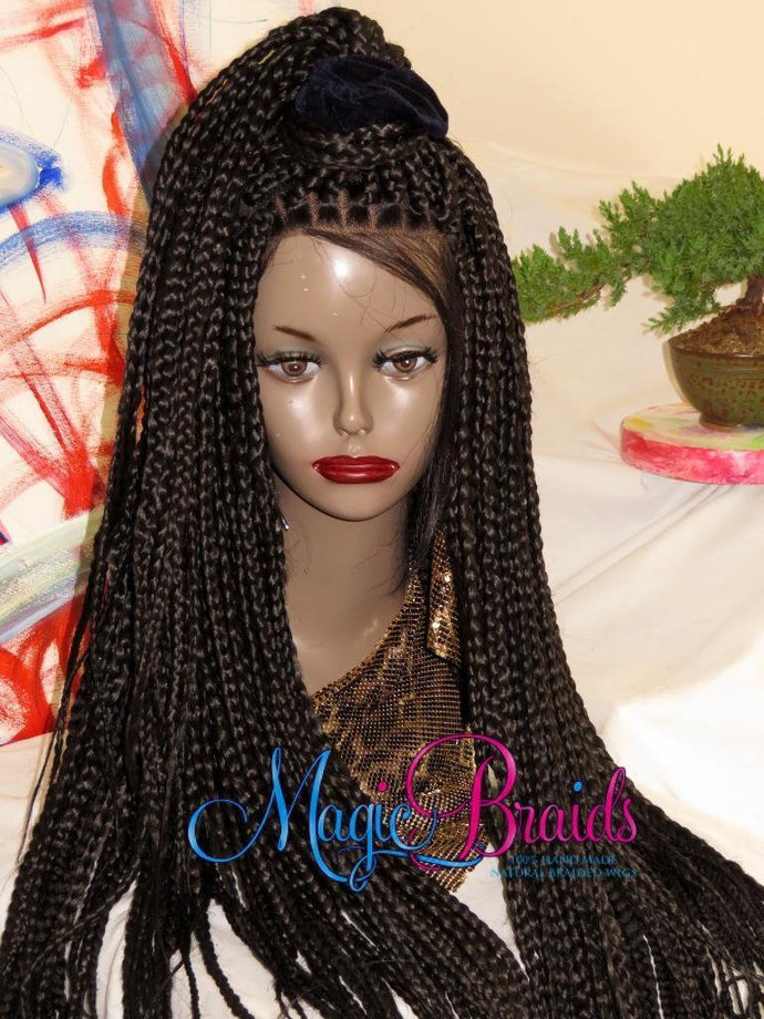 Fully Braided Whole Lace Wig Box Braids Color By Magicbraids On Zibbet