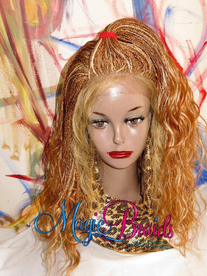 Braided Lace Front Wig Micro Braids Color By Magicbraids On Zibbet