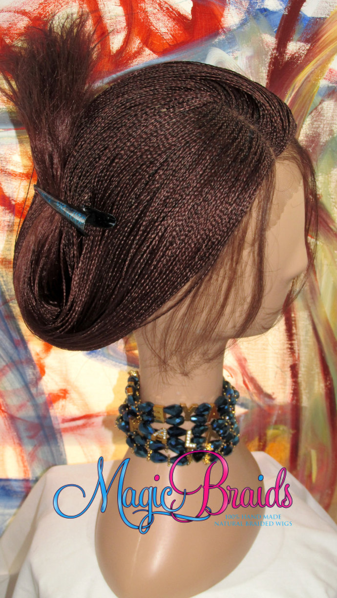 Fully Braided Lace Front Wig Micro Braids By Magicbraids On Zibbet