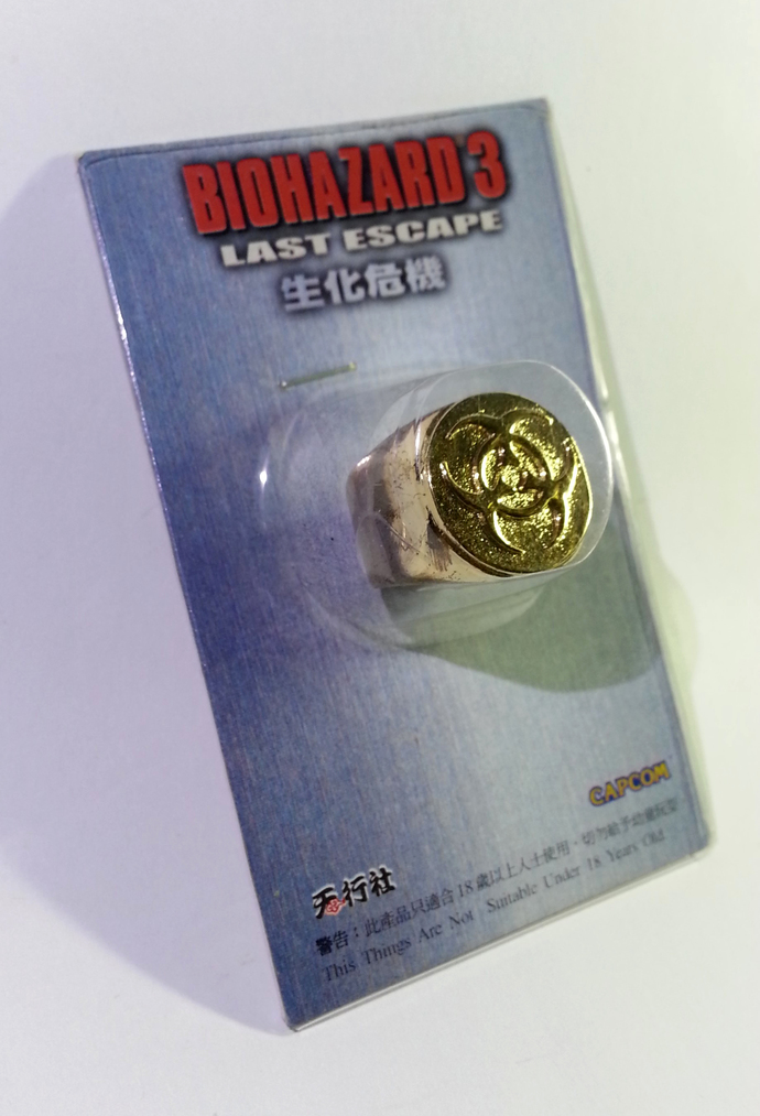 BIOHAZARD 3 Last Escape Promo Umbrella Symbol Gold Metal Ring - Hong Kong Comic