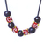 Interchangeable Beaded necklace with red glass and hematite metal beads,