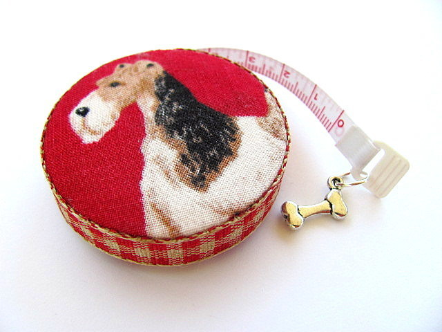 Measuring Tape with Terrier Dogs Retractable Tape Measure