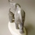 Vintage porcelain elephant figurine,,stamped,handpainted