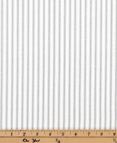 Classic Storm Grey And White Print Ticking By Twistedbobbin On Zibbet
