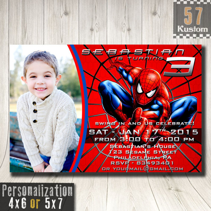 Spiderman Invitation Photo Spiderman Invitation by 57Kustom on