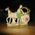 1930s German Bisque Porcelain Figurine Man & Horse-drawn Cart