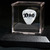 Commemorative guitar pick, display case and matching pedestal: DIO