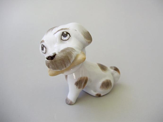 Cute Vintage porcelain ,lovely animal figurines , dog,puppy,nodding/bobbing