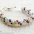Size 7 inches Swarovski; Glass Bracelet; Gold Crytal and Pearl Twisty Bracelet,