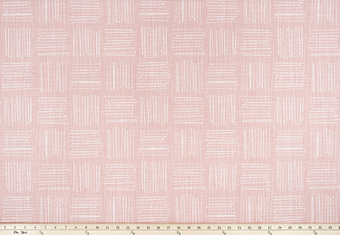 Brave print. Blush Pink and white. Fabric By Yard. Premier Prints. cotton. Home
