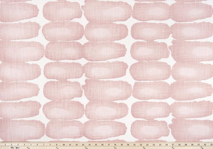 Blush and white in Shibori Dot fabric. Print Fabric By Yard. Premier Prints.