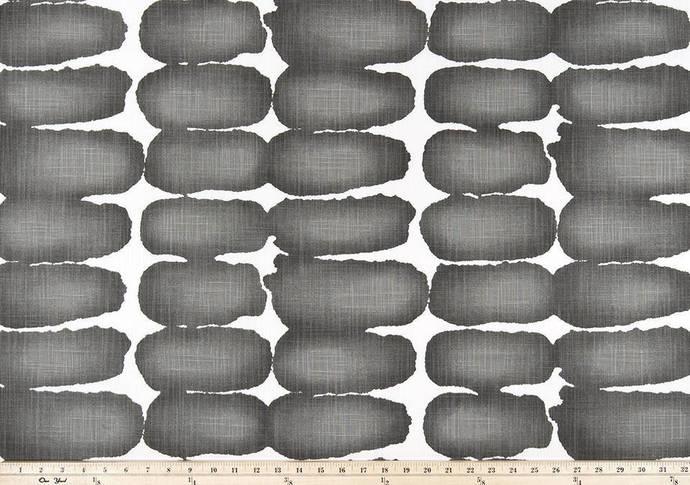Dark Grey Ink and white in Shibori Dot fabric. Print Fabric By Yard. Premier