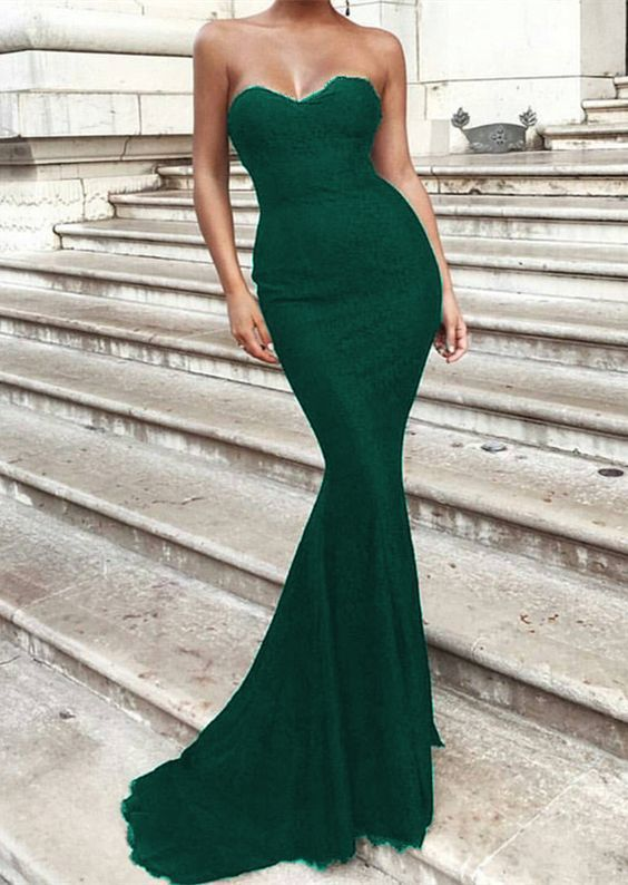 Emerald Green Sweetheart Corset Mermaid by Miss Zhu Bridal ...